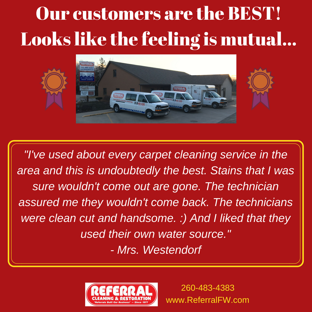 Referral Cleaning Restoration: Carpet Cleaning, Upholstery Cleaning, Tile Cleaning, Water