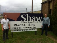 Blog - Ryan & Alan at Shaw Carpet Factory
