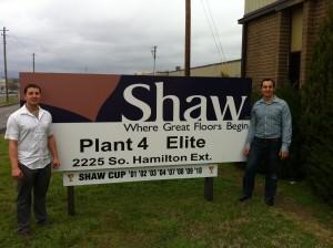 Blog - Ryan & Alan at Shaw Carpet Factory