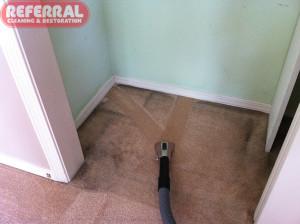 Carpet - 1 Soiled Closet Carpet Cleaning Contrast