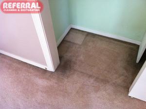 Carpet - 1 Soiled Closet Carpet From Air Filtration Soil