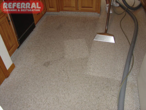 Carpet - 13 See the difference Referral makes cleaning dirty kitchen carpet