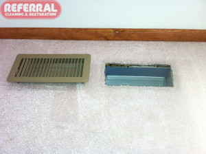 Carpet - 3 Referral Removed Air Filtration Lines From Carpet Around Air Duct Vent In A Fort Wayne Home