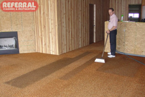 Carpet - Even old out of style carpet cleans up great for Referral