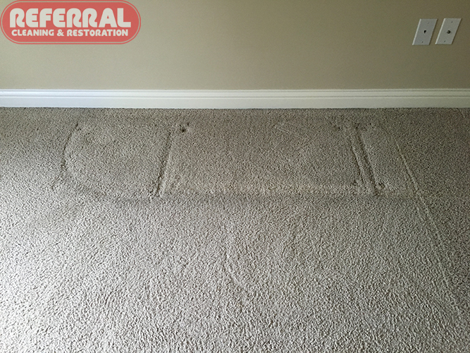 Carpet - Furniture Dents before cleaning