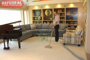 Carpet - Referral is careful while cleaning carpet around fine furniture 1