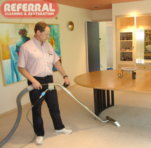 Carpet - Referral is careful while cleaning carpet around fine furniture 2