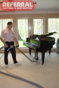Carpet - Referral is careful while cleaning carpet around fine furniture 3