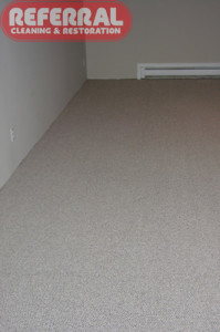 Carpet - Water Stain cleaned out of carpet