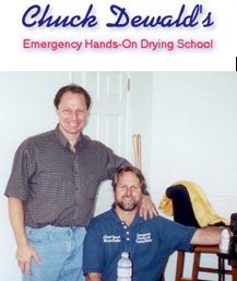 Ron with his instructor Chuck Dewald at his hands on drying school.