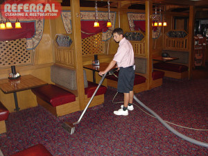 Commercial - Cleaning Carpet At Fort Wayne Pizza Hut