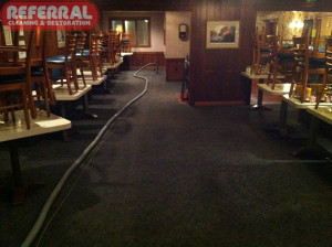 Commercial - Cleaning Carpet At Halls Prime Rib
