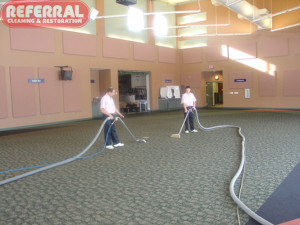 Commercial - Cleaning Carpet In A Large Commercial Room In Fort Wayne Building