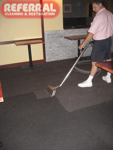 Commercial - Cleaning Dirty Carpet At a Fort Wayne Restaraunt