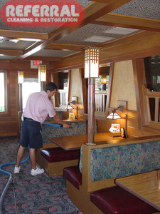 Commercial - Cleaning Fabric Booth Backs At A Fort Wayne Restaraunt