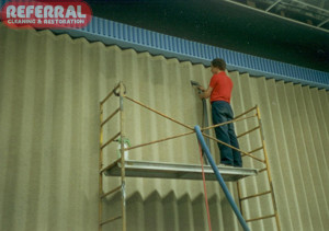 Commercial - Cleaning Fabric Room Divider