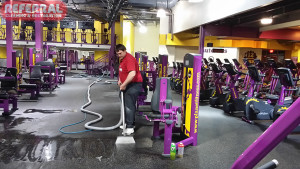 Commercial - Cleaning Rubber Flooring at Planet Fitness