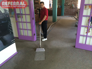 Commercial - Contrast While Cleaning Carpet at A Fort Wayne Industrial Business