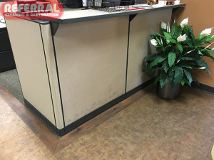 Commercial -  Dirty Fabric Wall Partition at Fort Wayne Office
