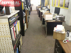 Commercial -  Fort Wayne Office Carpet Cleaned and Restored by Referral