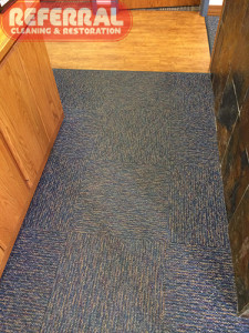 Commercial - Fort Wayne Office Carpet - Traffic Area soiled and dingy