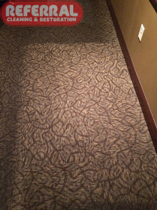 Commercial - Fort Wayne Restaurant Carpet - After Referral Cleaned It