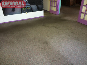 Commercial - Heavily Soiled Industrial Office Carpet Before Cleaning