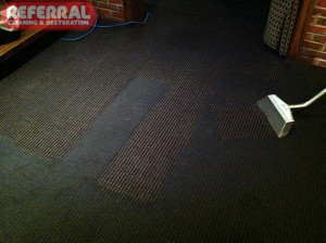 Commercial - Referral Cleaned This Fort Wayne Restaraunts Carpet to remove heavy grease buildup