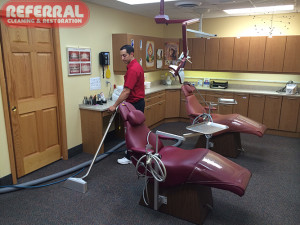 Commercial - Referral Cleaning Carpet At A Fort Wayne Dentist Office