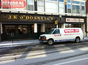 Commercial - Referral Cleaning Fabric BarStools and Boothes at JK O'Donnells