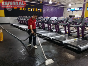 Commercial - Referral Cleaning Rubber Flooring At Planet Fitness