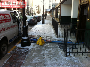 Commercial - Safety First! When our hoses must cross sidewalks we ensure the safety of others from trip and fall accidents.