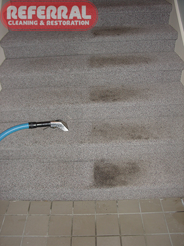 Commercial - Stairs Clean Up Great With Referral's Unique Technique and Hand Tool