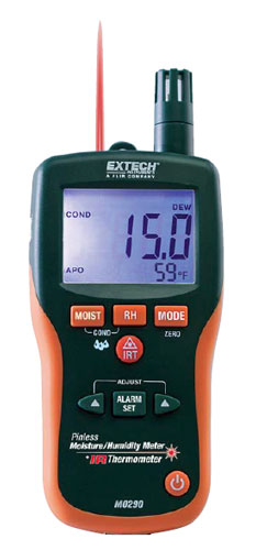 Emergency - Extech Pinless Moisture Psychrometer & IR Thermometer