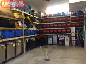 Emergency -  Inventory of water damage equipment