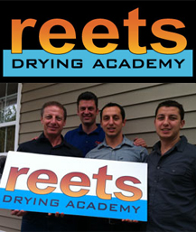 Ron, Alan & Ryan with their instructor, Jeremy Reets, at his hands on drying academy.