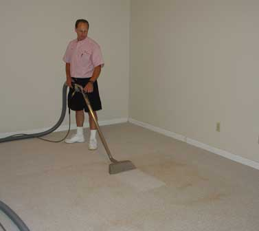 This Water Damaged Carpet Had A Brown Water Damage Stain. Referral Was Able To Remove It And Save The Carpet!