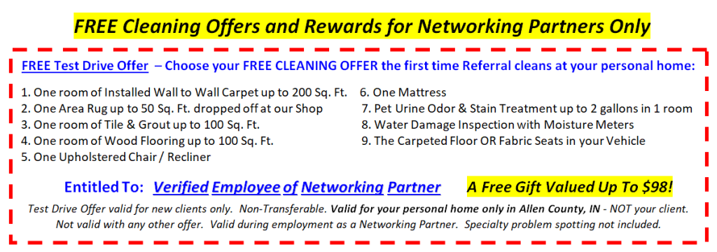 Free Test Drive Offer For Referral's Networking Partners