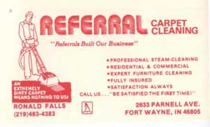 history business card 1 fort wayne in referral cleaning