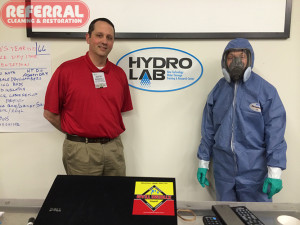 Mold - Alan with his AMRT IICRC Class instructor at the Hydro Lab