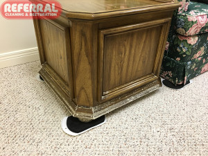Mold -  Moldy End Table In Wet Fort Wayne Basement