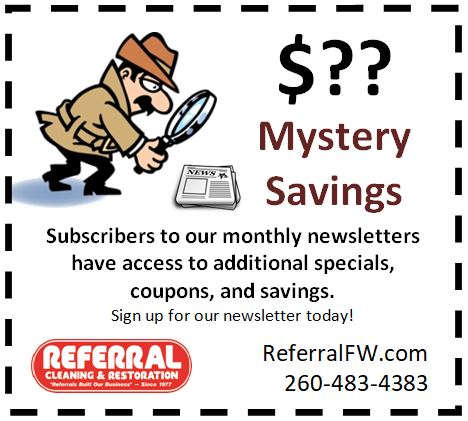 Newsletter Carpet Cleaning Coupon