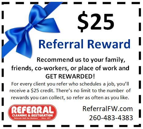 Referral Carpet Cleaning Coupon