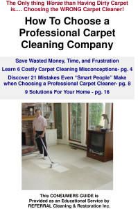 Referrals Consumer Guide To Carpet Cleaning-2008 20 page version