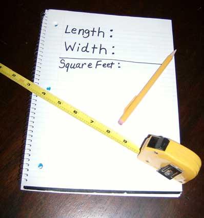 Rug - Measure Square Feet