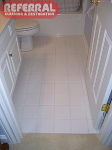 Tile - Bathroom Tile & Grout Looks New After Referral Cleans It