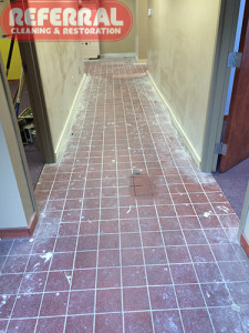 Tile - Cleaning Tile In A Fort Wayne Business - Before