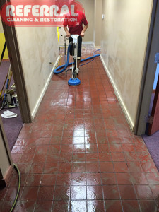 Tile - Cleaning Tile In A Fort Wayne Business - During