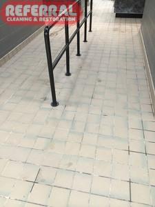 Tile - Fort Wayne High School Dirty Tile & Grout After Remodeling
