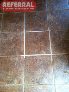 Tile - Grout Cleaning Contrast